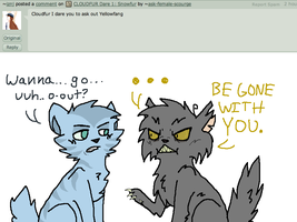 CLOUDFUR Dare 3: Ask Out Yellowfang by ask-female-scourge