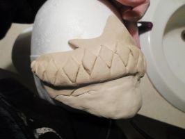 Hollow mask right side done. by AFKBrandy