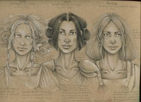From my sketchbook- face differentiation by Gawarin