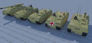 Buffalo series ground vehicles. by kaasjager