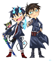 Chibi Okumura Brothers by BleachedSouL999