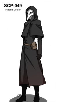 SCP-049 Plague Doctor by DeluCat