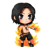 OP- ACE with flames by TropicalSnowflake