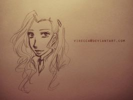 Asami [sketch] by virecca