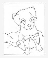 Puppy Lineart by katsumi630