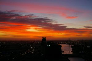 Melbourne Sunset by SuperSprayer