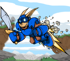 Sparkster the Rocket Knight by d6016