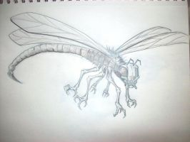 sketch 01 mutant insect by tanek
