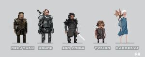 8BIT Game of Thrones by frankhong