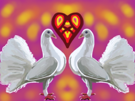Double dove love Charm by Be-Lyle