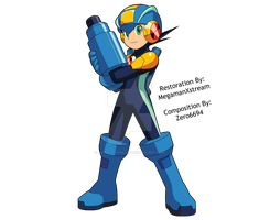 Megaman.EXE custom pose 2 by Mega-X-stream
