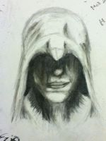 First Attempt at Charcoals- Ezio Auditore by LivanyandMaii