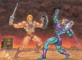 He-man vs Skeletor by Jams-da-1