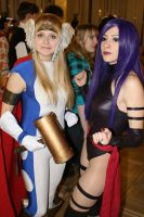 Psylocke and Thor girl by KaitoEinsam