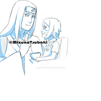Neji and his daughter by Tsubaki-Doodle