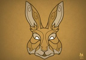 Hare mask by Adele-Waldrom