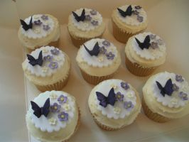 Purple Wedding Cup Cakes by gertygetsgangster