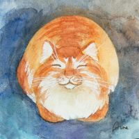 Happy ginger cat by Lin-the-Wanderer