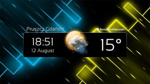 Simple Clock and Weather Widget by Slavoo123