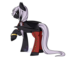 Pony OC  -  Black Steel by Crystal-Comb