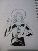 Waverly Jesus (inktober) by angelastrey