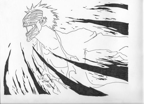 Ichigo 'Hollowfied' by fulldemonnaruto