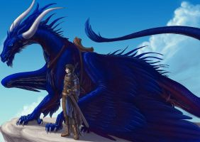 Brom and Saphira by hibbary