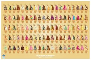100 Kawaii Soft Serve 88k by KawaiiUniverseStudio