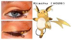 Pokemakeup 026 Riachu by nazzara