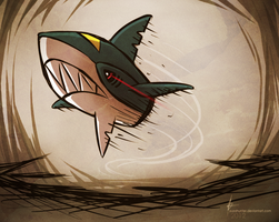 FLYING SHARPEDO by YuzaHunter