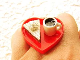 Food Ring Coffee Cake Heart by souzoucreations