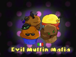 Evil Muffin Mafia by Lady-Corbeau