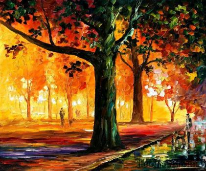 THE LIGHT OF THE NIGHT by Leonid Afremov by Leonidafremov