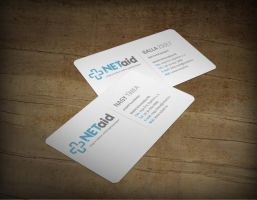 netaid logo and business card by arkantal