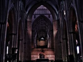 York minster interior in HDR . by velar1