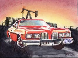 1977 Pontiac Grand Prix Sunset by FastLaneIllustration