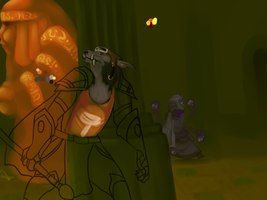 WoW -- Tomb OfThe Watchers WIP by static-mcawesome