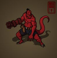 Hellboy speeddoodle by Inkthinker