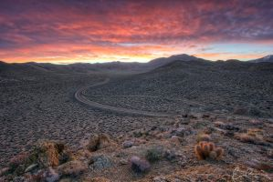 Sunrise Over Emigrant Canyon Road by eprowe