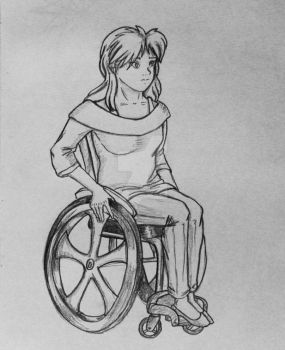 Holiday Commission 1: Penny's Wheelchair by HughesHunter5