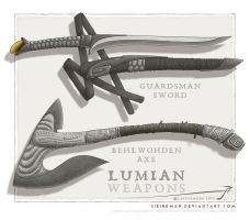 Lumian weapons 02 by SirInkman