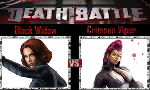 Black Widow vs Crimson Viper by SonicPal