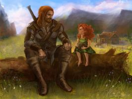 Father and daughter by Verchak
