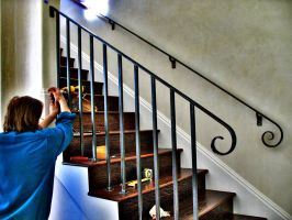 Arts and Crafts Style Railing by ou8nrtist2