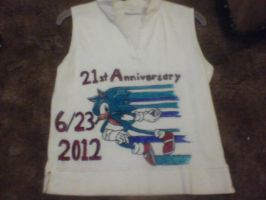 Lookie what i made for sonics 21st Anniversary by ShadeOokami
