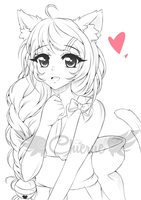 :Gift for MsLiuvar: Emiko - Sketch ~ by Chierue