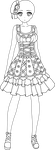 Colorless Outfit Adoptable 04 by mystical-dust