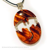 Dragon pendant made out of birch burl by JOVictory