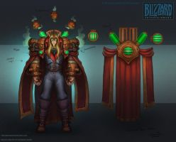 Kael'thas Steampunk concept by FirstKeeper