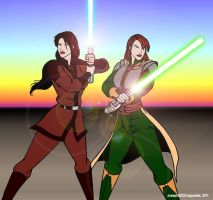 Revan and the Exile by Leppardra